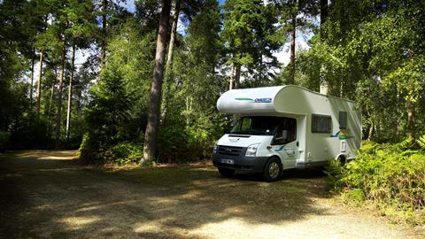 Setthorns Campsite in New Milton, Hampshire