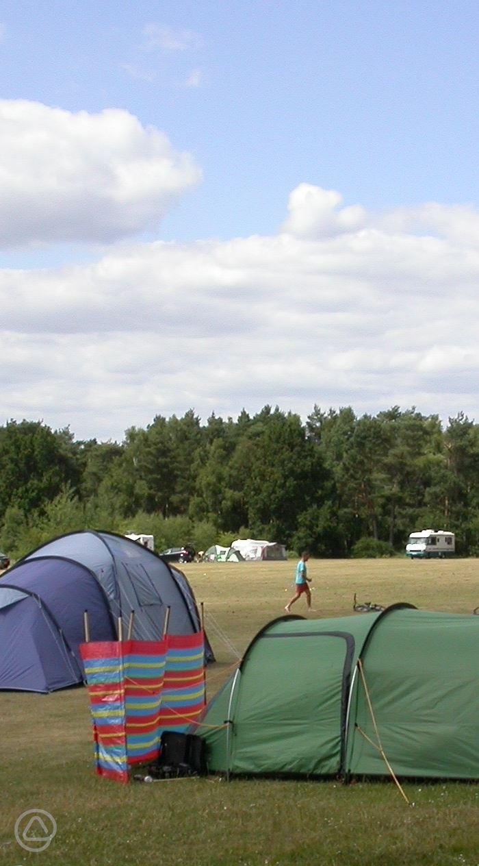 Basingstoke Canal Campsite in Mytchett, Surrey