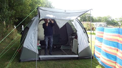 Pre-erected tent & Greenore Certificated Site in Cardigan Ceredigion