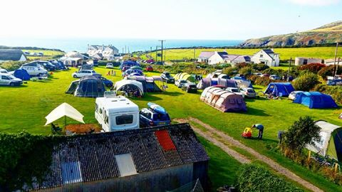 Church Bay Cottages Camping and Touring Site in Porth Swtan