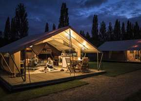 Safari tents in the New Forest