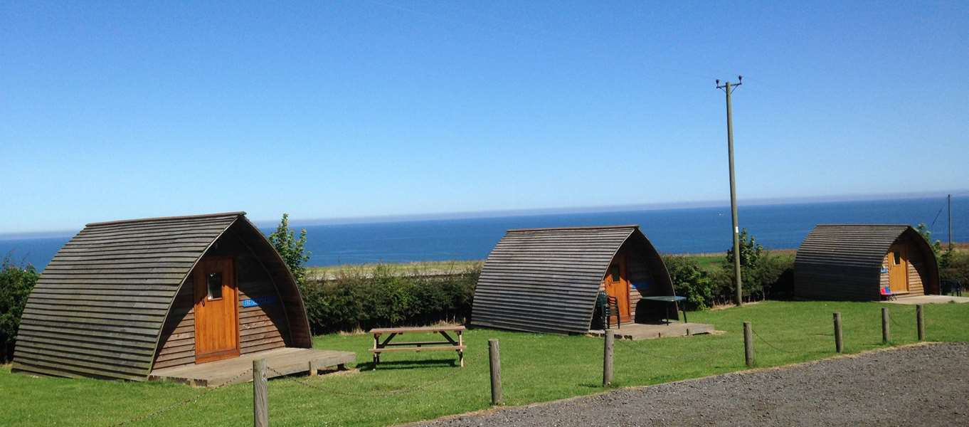 Glamping pods and camping pods in Northumberland